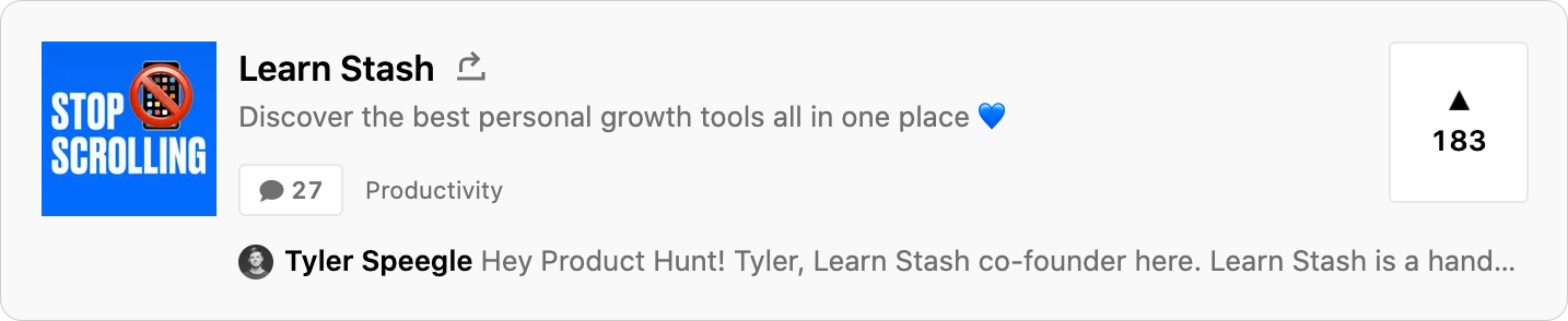 Successful Product Hunt Launch